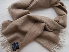 Hugo Boss Baby Alpaca and Wool Fringe Natural beige warm classic long scarf