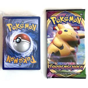 1x Booster + 50 Pokemon Karten mit 2x Reverse Holo, 1x Holo - Deutsch