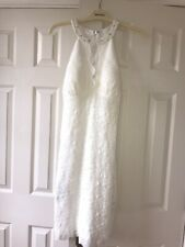 White Dress David Bridal Size 14 Or 16 . New Cost £130. Wedding / Hen Party