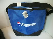 Pepsi Cola Nylon Zippered Insulated Bag Tote Can Cooler 6 X 8 X 10 Noswt