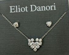 Necklace And Earring Set Nwt Eliot Danori Crystal Heart