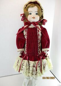 """Reproduction SFBJ #247 Paris Bisque 23"""" Tall with beautiful handmade outfit"""