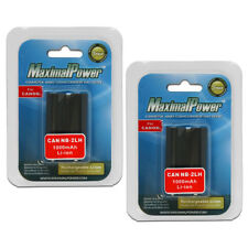 TWO BATTERIES for CANON NB-2LH NB-2L NB2L PowerShot S30 S40 ZR100 BATTERY X 2
