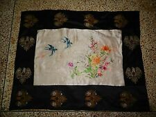 Antique Chinese Hand Embroidery Silk Wall Hanging Tapestry/Panel 76X60cm (X238)