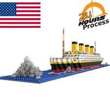 1860PCS 3D Titanic Ship Toy Model Boat Nano Building Bricks Blocks Set Kids Gift
