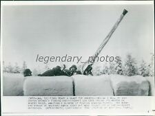 1940 World War II Finns Prepare for Russian Bombers Original Wirephoto