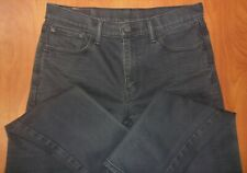 Levis 502 Taper Fit Stretch Black Wash Jeans 33x32