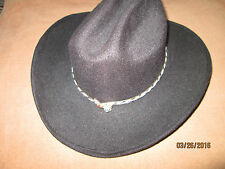 Pigalle XXXXXXX Black Cowboy Hat Size 6 1/2 with Gold Band
