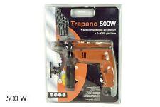 TRAPANO 500W set Completo di accessori 0-3000giri/min. HAPPY BRICO PRO