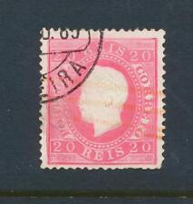 Portugal 1884 , 20Rs Rosa Perf 13 ½, VF Usado Sc# 40a ( Ver Abajo )