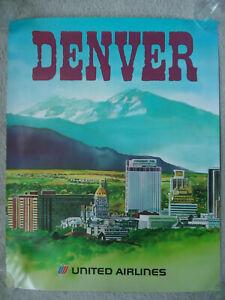 United Airlines - Denver - Original Poster - 1970's