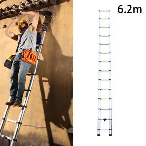 6.2M  Extendable Portable Heavy Duty Aluminium Telescopic Ladder20.3ft