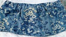 "RALPH LAUREN ""Annie Blue"" Twin Size Bedskirt Dust Ruffle  Blue & White Cotton-2"
