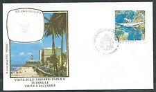 1980 VATICANO VIAGGI DEL PAPA BRASILE SALVADOR - RM1
