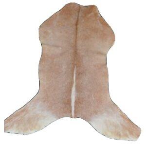 "New Genuine Goat Rug Area Rug Carpet Leather Rug Animal Rug Hide (34""x28"")-M5"