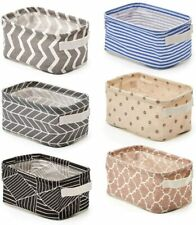 Foldable Storage Bins Baskets, Collapsible Fabric Shelf Organizer with Handles