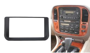 Radio Fascia for Lexus LX470 Toyota LC100 2 Din Stereo Panel Trim Kit Frame