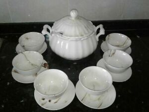 large teapot with cups