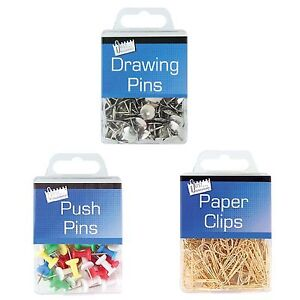 Push Drawing Pins Paper Clips Just Office Stationery Hanging Notice Cork Board