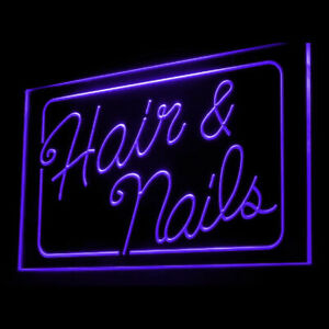 160037 Hair & Nails Beauty Salon Display LED Light Neon Sign