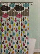 Splash- Monday Multicolored Clouds/Rain- Vinyl Shower Curtain 70x72in