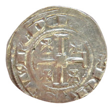 More details for 1324-1359 cyprus hugh iv hammered silver gros coin - crusaders