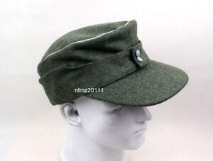 WWII German Officer M43 WH EM field  Panzer Wool Cap Hat Green 59cm