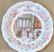 �Rare Htf Royal Doulton Brambly Hedge The Dairy China Plate Collector Item Mint�