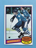 MICHEL GOULET ROOKIE 1980-81 TOPPS HOCKEY CARD #67 QUEBEC NORDIQUES