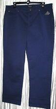 "NWT *JONES NEW YORK*  Blue Cotton/Spandex ""Secret Slimming"" Straight, Pant,12 S"