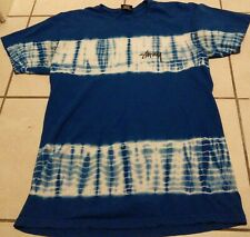Men's Stussy Shirt Tie Dye All Over Sz M Double Skateboarding Blue