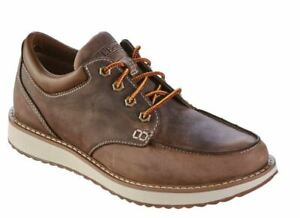 NEW LL Bean Men 10 Shoes Stonington Moc Toes Brown Leather Lace Up