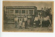 Hulett World Wizard EARLY MOBILE HOME ADVERTISING PC Trailer Schenectady 1910s