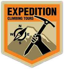 "Climbing Expedition Climb Mountain Car Bumper Window Sticker Decal 4""X5"""