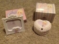 Precious Moments 2003 Club Exclusive Porcelain Covered Box & Picture Frame