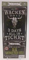 + Wacken 2011 - altes Konzert-Ticket - 22 Years 3 Days - Nr. 57473 für Sammler +