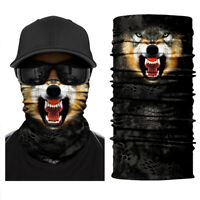 3D Wolf SPF40 Face Shield Sun Mask Neck Gaiter Cycling Outdoor Balaclava Scarf