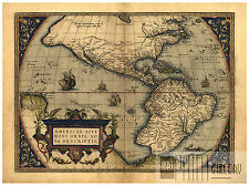 North America South America Cuba Mexico map Abraham Ortelius ca.1570