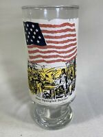 VINTAGE Glass Cup Star Spangled Banner USA Flags of Our Nation Series Patriotic