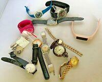 12 Piece Mixed Watch Lot Parts/Repair Swatch Slap Disney LeGant Timex Vintage