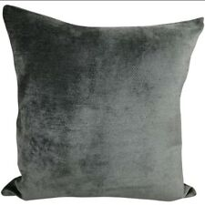 """Set of 4 Beautiful Chenille Textured Grey Two Tone Cushion Covers - 18x18"""" /45cm"""