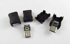 10pcs Micro USB 5 Pin Male Plug T Port Socket Connector & Plastic Cover for DIY