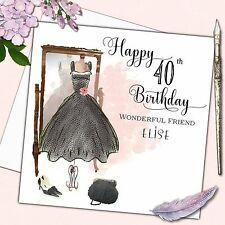 Personalised Birthday Card Mothers Day Daughter Sister Friend 30th 40th