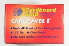 Card Saver 2 Cardboard Gold Semi Rigid Lot of (2) Holders