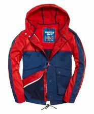 Superdry Adriatic Short Parka - Red/Navy - Size 12 (36 Chest) RRP £90