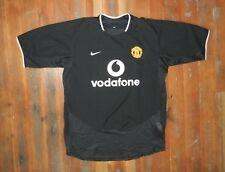 Nike Manchester United Black Vodafone Soccer Jersey Football Shirt Sz Men Large