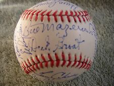 1960 Pittsburgh Pirates World Series Champions Team Signed Baseball