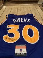 Billy Owens Autographed/Signed Jersey COA Golden State Warriors St