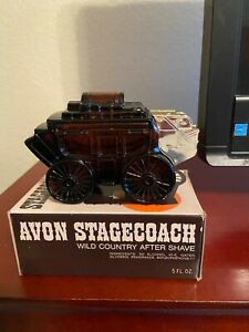 Avon Stagecoach Decanter - Wild Country after shave - 1970