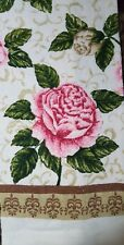 NEW COTTON KITCHEN DISH TOWEL  Big Colorful Pink Roses